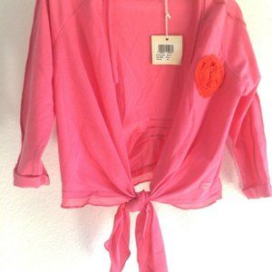Eliane et Lena size 4 NWT bolo style pink cover up